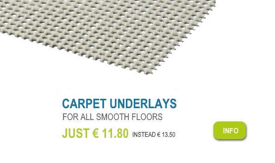 Carpet underlay Exact for all smooth surfaces. Just 11,80 € instead of 13,50 €